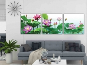 7 mẫu tranh hoa sen đẹp, ý nghĩa