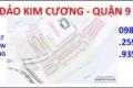 Mặt tiền 30m Đảo Kim Cương, Quận 9, 3,950 tỷ/86m2. ngang 5m, gần ngay mt đường Long Thuận