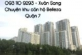 Cho thuê căn hộ Belleza Quận 7 giá rẻ nhất thị trường 92m2, 2PN+2WC giá 7tr/th 0931109293 LH (Sang)