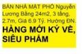 BÁN NHÀ MẶT PHỐ Nguyễn Lương Bằng 24m2, 3 tầng,  2.7m, Giá 6.9 Tỷ. Hướng ĐN.