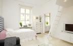 Căn hộ 38 m2 tươi sáng và ấm cúng