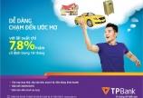Lãi suất vai ưu đãi chỉ 7.8%/năm từ TP Bank