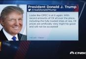Tổng thống Mỹ chỉ trích OPEC đẩy giá dầu lên cao giả tạo