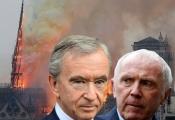 Cuộc chiến 'ngầm' giữa 2 siêu tỷ phú Pháp quyên góp 340 triệu USD cho Nhà thờ Đức Bà