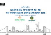 """Ngày 8/12: Hội thảo """"Nhận diện cơ hội và rủi ro thị trường bất động sản năm 2018"""""""
