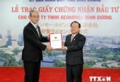 Trao giấy phép đầu tư cho Aeonmall Bình Dương