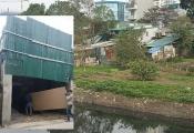 Nhức nhối xây dựng xâm hại hành lang sông Nhuệ ở phường Mộ Lao