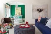 Nhà bừng sáng với nội thất và phụ kiện đầy màu sắc