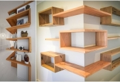 Thiết kế lưu trữ thông minh nơi góc tường