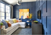 Trang trí nhà với màu trắng và xanh dịu mát