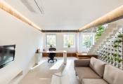 Căn hộ nhỏ với thiết kế tường ấn tượng