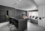 Căn hộ thanh lịch với thiết kế nội thất đen trắng