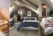 Ý tưởng trang trí phòng ngủ gác mái thêm độc đáo