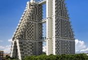 Ngắm tòa tháp ma trận 3 chiều độc đáo