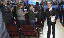 """Tổng thống Nga V.Putin: """"Tôi là tỉ phú về tình cảm mà nhân dân dành cho"""""""
