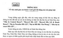 Cảnh báo dự án ma trên địa bàn thị xã Ninh Hòa