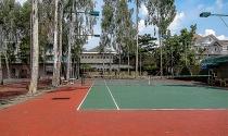 """Xén đất chung, """"hô biến"""" công viên cây xanh thành sân quần vợt"""