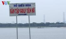 Sẽ cưỡng chế tháo dỡ sân tập golf không phép ở hồ điều hòa Yên Sở