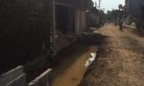 Đường 516C, thi công rùa bò nghi ngại chất lượng công trình