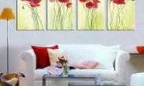 Làm đẹp không gian nội thất với tranh