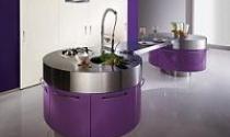 Ấn tượng bếp màu tím