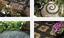 Trang trí sân vườn đẹp theo phong cách mosaic