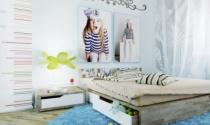 Thiết kế cửa phòng ngủ cho con cái hòa thuận