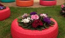 Những ý tưởng cho chậu hoa tái chế