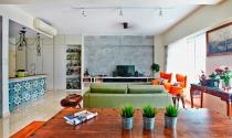 Căn hộ ấm áp nhờ nội thất nhiều sắc màu