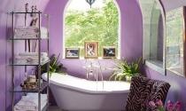 Phòng tắm quyến rũ với màu tím