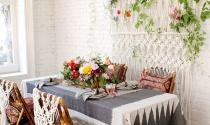 Phòng ăn phóng khoáng với phong cách Bohemian