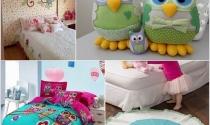 Trang trí phòng cho bé với hình cú dễ thương
