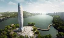 """Chiêm ngưỡng tháp Chu Hải với kiến trúc """"cá nhảy mặt nước"""" độc đáo"""