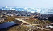 """Ngắm """"nhan sắc"""" trung tâm nghiên cứu khí hậu dạng lều móc L Icefjord"""