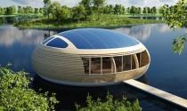 """Nhà nổi """"phi thuyền"""" sinh thái năng lượng mặt trời"""