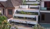Lạ mắt ngôi nhà có mặt tiền với thiết kế bậc thang tại Hà Tĩnh