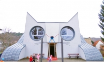 """""""Tuyệt cú mèo"""" với trường mẫu giáo kiến trúc hình mèo ấn tượng"""