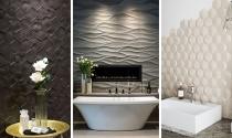 Xu hướng sử dụng gạch ốp tường 3D trong phòng tắm