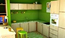 Trang trí bếp với sắc xanh mát mẻ cho ngày hè