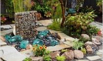 Sân vườn bắt mắt với tạo hình nghệ thuật độc đáo