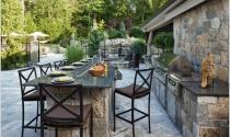 Căn bếp cho không gian thư giãn, lãng mạn ngoài trời