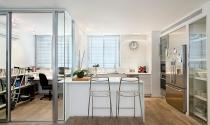Thiết kế phòng làm việc cạnh nhà bếp tiết kiệm không gian sống