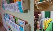 Ý tưởng đơn giản lưu trữ sách trong phòng bé