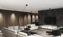 Nội thất hiện đại sang trọng với trang trí gỗ ốp