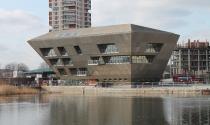 Ngắm thư viện hình kim tự tháp ngược tại London