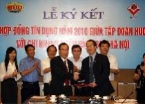 Tập đoàn HUD ký hợp đồng tín dụng năm 2010 với Chi nhánh ngân hàng BIDV Hà Nội
