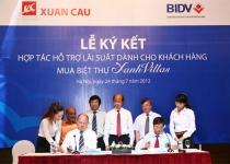 BĐS Xuân Cầu và BIDV hợp tác hỗ trợ lãi suất