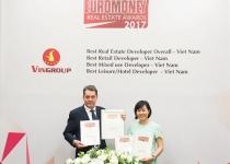 Vingroup đạt giải nhà phát triển bất động sản tốt nhất Việt Nam