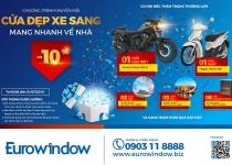 Eurowindow giảm 10% cho khách hàng khu vực phía Nam