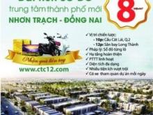 Licogi 16 mở bán 500 nền đẹp nhất dự án Long Tân City, Nhơn Trạch, 8tr/m2, LH: 0989.102.594